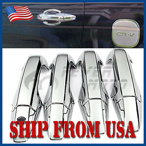 Us Fit For 2007 2011 Honda Crv Chrome Plated Abs Side Door Handle Cover Trim Fm