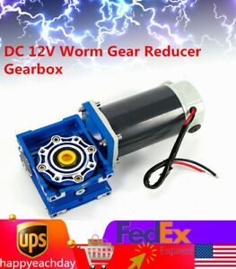 300w Worm Gear Reducer Gearbox Electric Rv Gear Dc Adjust Two speed Gear Motor