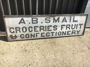 19th Century Antique Country Store Sign Vt Original A B Smail Groceries 74 X22