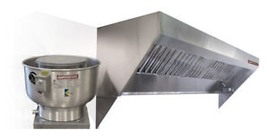 Mobile Kitchen Low Profile Exhaust Hood System 10 Hood Fan And Duct
