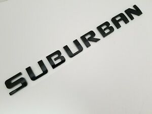 1 Black Suburban Fit Chevy Emblem Chevrolet Name Trunk Tailgate Door Badge Decal