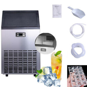 Restaurant bar Commercial Ice Maker Ice Cube Machine Stainless Steel 100lbs