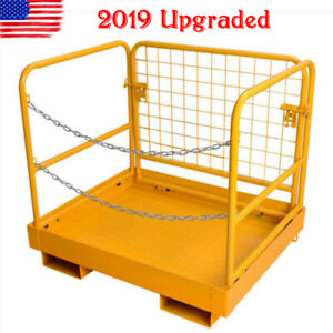 36 x 29 Heavy Duty Forklift Safety Cage Work Platform Collapsible Lift Basket