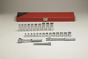 Wright Tool 377 3 8 Drive 29 Pc 6 Pt Standard Deep Socket Set