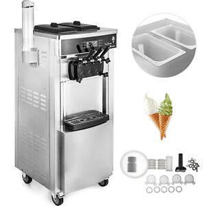 Commercial Mix Flavor Ice Cream Machine 304 Stainless Auto Adjustable Hardness