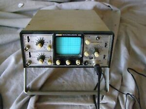 Vintage Bk Precision 15mhz Oscilloscope 1420 With Ac Adapter Other Cables
