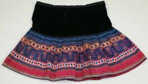 Vintage Tribal Exotic Chinese Miao People S Old Hand Batik Embroidery Skirt