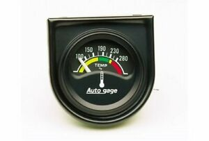 Auto Gage Electrical Water Temperature Gauge 1 1 2 Dia Black Face 2355