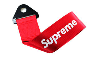 1x Red Jdm Supreme Racing Drift Rally Car Tow Towing Strap Belt Hook Universal