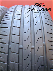 2 Two Tires Excellent Pirelli 245 45 18 Cinturato P7 Runflat Bmw Nopatch 50050