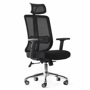 Cctro Ergonomic Mesh Office Chair With Adjustable Headrest And Padded Flexible A