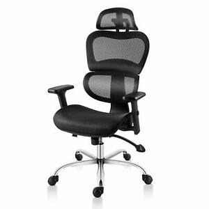 Smugdesk Ergonomic Office Chair High Back Mesh Chairs With Lumbar Support Adjus