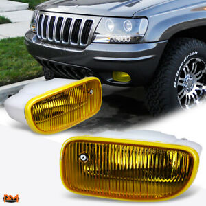 For 99 01 Jeep Grand Cherokee Oe Style Amber Lens Front Bumper Fog Light Lamp