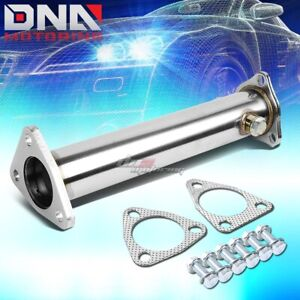 Stainless Straight Exhaust Pipe For 1990 1993 Accord Cb1 4 88 01 Prelude Bb1 Bb6
