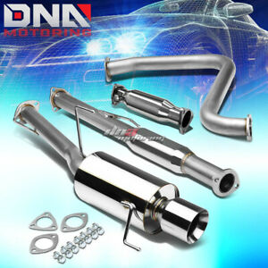 4 Rolled Tip Racing Catback Hi Flow Pipe Exhaust System For 92 96 Prelude Bb