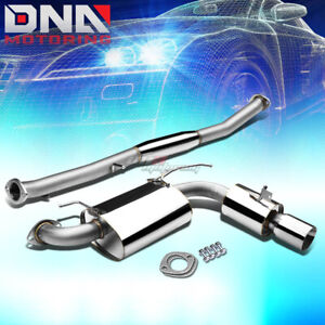 3 5 Rolled Tip Stainless Exhaust Catback System For 90 98 Miata Mx 5 Na 1 6 1 8