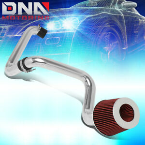 For 2001 2005 Honda Civic 1 7l Aluminum Cold Air Intake System Kit W red Filter
