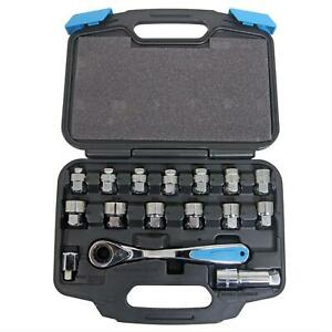 Channellock 16 Piece Pass Thru Uni Fit Socket Set 39100
