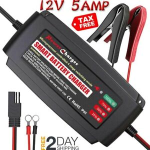 Lst Automatic Battery Charger Maintainer 12v Portable Smart Deep Cycle