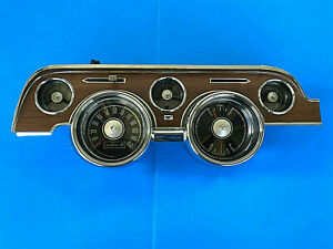 1968 Ford Mustang Woodgrain Gauge Dash Cluster Reconditioned 68 2024