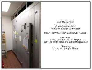 Walk in Cooler Freezer Combination Box Self contained Capsule Master bilt