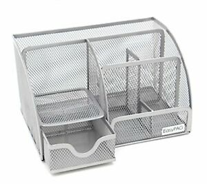 Easypag Office Mesh Supplies Desk Accessories Organizer 6 Compartment