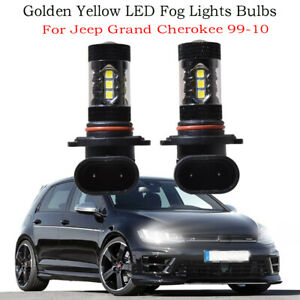 2x 9005 Led Fog Lights Bulbs Golden Yellow 80w For Jeep Grand Cherokee 99 10