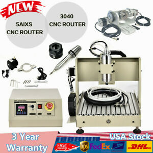 3040 Cnc Router Engraver Engraving Milling Drilling Machine Cutter 5axis 400hz
