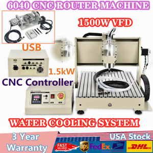 5 Axis Cnc 6040 Router Engraver Milling Machine Diy Artwork 3d Cutter Usb Us