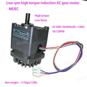 Nidec 100 110v 55w High Torque Low Noise Induction Ac Gear Motor Single Phase Fy