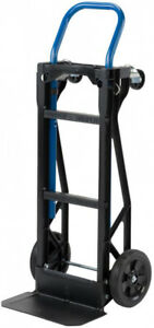 2 in 1 Convertible Hand Truck 400 Pound Capacity Lightweight All Purpose 2 Wheel