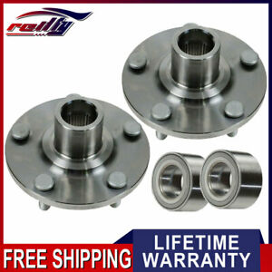 Front Wheel Hubs Bearings Kit Left Right Pair Set Ar