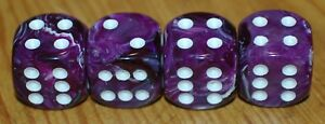 Dudds Dice Purple Swirl W White Valve Stem Caps 4 Pack Fits Ford Chevy 13