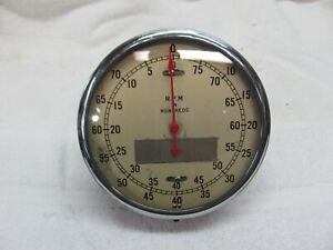 Stewart Warner 5 Inch 8k Tachometer Curved Glass Well Used Condition