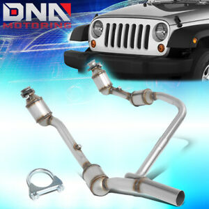 For 2007 2009 Jeep Wrangler Jk 3 8l Catalytic Converter Front Exhaust Y pipe Kit