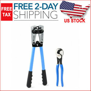 Iwiss Battery Cable Lug Crimping Tools Hand Electrician Pliers For And