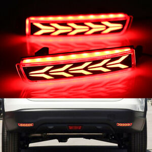 For Nissan Altima 2019 X trail Qashqai Car Led Rear Fog Lamp Bumper Brake Light
