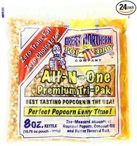 Great Northern Popcorn Premium 8 Ounce Popcorn Portion Packs Case Of 24