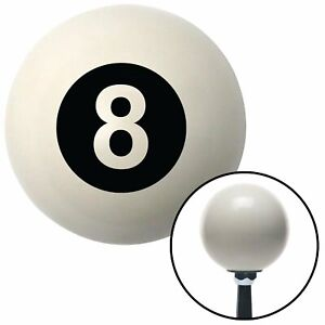 Black 8 Ball Ivory Shift Knob Accessories 956 Racing Street Rod Race Hot Rod