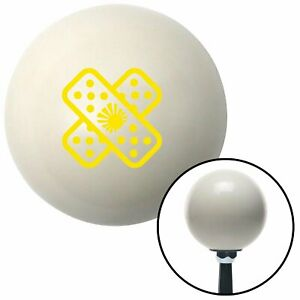 Yellow Jdm Band aid Ivory Shift Knob With 16mm X 1 5 Insert Racing Jr Dragster
