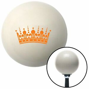 Orange Queens Crown Ivory Shift Knob With 16mm X 1 5 Insert Gasser Parts Formula