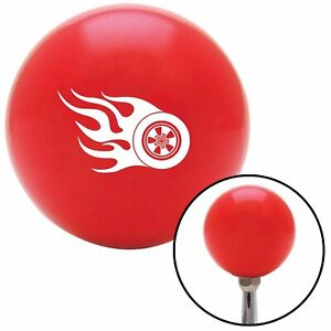 White Wheel On Fire Red Shift Knob With M16 X 1 5 Insert Gear 956 Gasser Parts