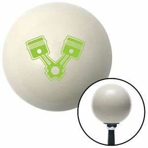 Green 2 Pistons Ivory Shift Knob With 16mm X 1 5 Insert 911 9 Inch Icon 409 Imca