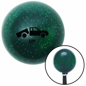 Black Automotive Dump Bed Up Green Metal Flake Shift Knob With 16mm X 1 5 Insert