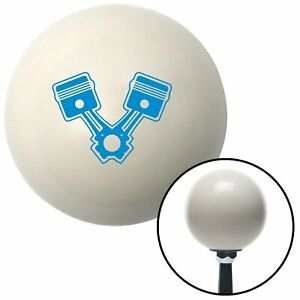 Blue Pistons Ivory Shift Knob With 16mm X 1 5 Insert G Force Dirt Rat Rod