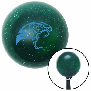 Blue Snake Profile Green Metal Flake Shift Knob With 16mm X 1 5 Insert Bbc Auto