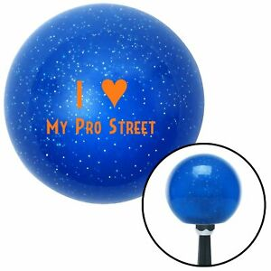Orange I 3 My Pro Street Blue Metal Flake Shift Knob Parts Wrecker 18 Degree