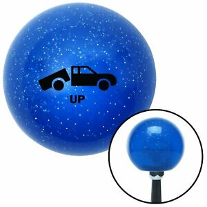Black Automotive Dump Bed Up Blue Metal Flake Shift Knob With 16mm X 1 5 Insert