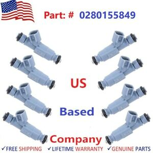 8 Bosch Fuel Injectors 2001 2007 Dodge Jeep Mitsubishi Chrysler 0280155849