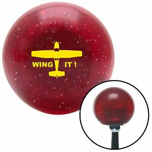 Yellow Wing It Red Metal Flake Shift Knob With M16x1 5 Insert Mini Bike Gear